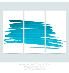 Set of three banners posters abstract headers vector