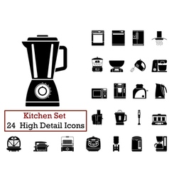 Icon set kitchen vector