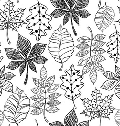 Black and white seamless pattern of patterned vector