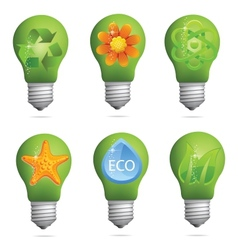 Creative eco bulb set vector
