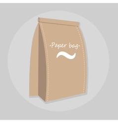 Paper food bag isolated vector image