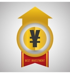Financial item design business icon flat vector