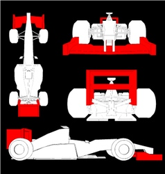 aerodynamics racing car vector image vector image