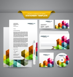 Business Stationery Template Triangles vector image vector image