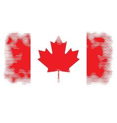 canada flag halftone vector image