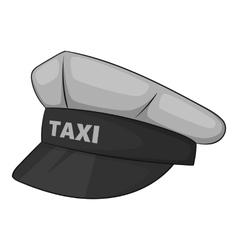 Cap taxi driver icon gray monochrome style vector image vector image
