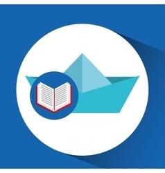 Concept school book ship paper vector