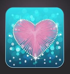 cons heart vector image