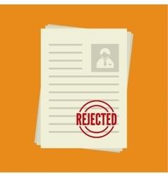 Cv denial resume personal file vector image