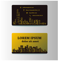 detailed business cards for cafe and restaurant vector image vector image