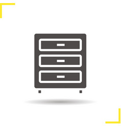 Dresser icon vector