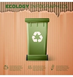 Ecology infographics background vector image vector image