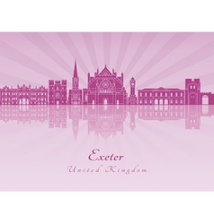 Exeter v2 skyline in purple radiant orchid vector