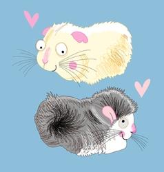 fun loving hamsters vector image vector image