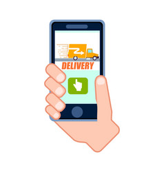 goods fast delivery service icon vector image