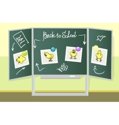 Green school boards vector image