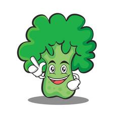 Have an idea broccoli chracter cartoon style vector
