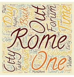 How to do rome in hours text background wordcloud vector