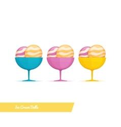 Ice Cream Balls vector image vector image