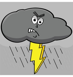 lightning cloud vector image vector image