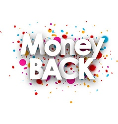 Money back paper card vector
