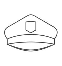 monochrome silhouette of police cap vector image