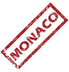 New monaco rubber stamp vector
