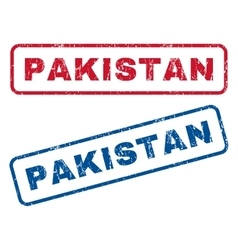 Pakistan rubber stamps vector