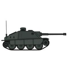 Retro tank destroyer vector