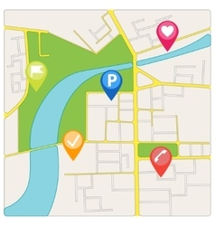 Road City Map of District vector image vector image