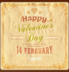 Rustic valentines card vector