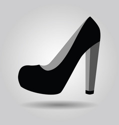 single women black platform high heel shoe icon vector image vector image