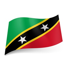 State flag of Saint Kitts and Nevis vector image