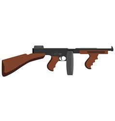 Tommy gun vector image vector image