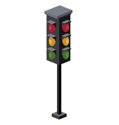 traffic light isometric icon vector image vector image