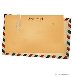 Vintage postcard envelope vector image