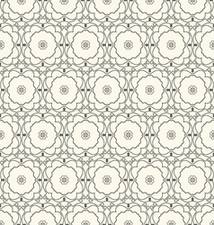 Vintage seamless wallpaper vector image