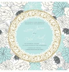 vintage wedding invitation with round vintage vector image vector image