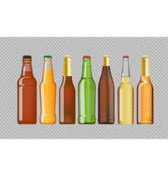 Digital beer mockup set vector image
