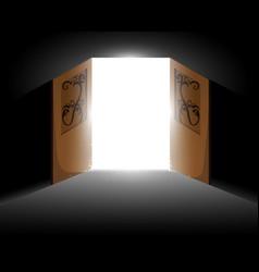 light from the open door vector image