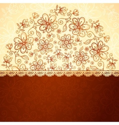Lacy vintage flowers background vector image
