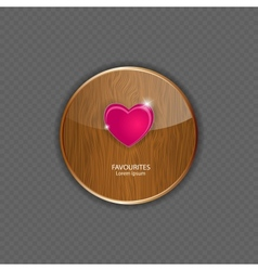 Heart wood application icons vector image