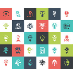 Light bulbs icons vector