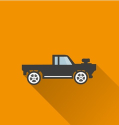 Car icon 3 long shadow vector