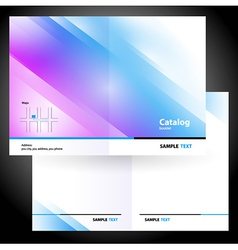Booklet folder brochure colorful design gradient vector