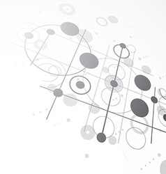 3d bauhaus abstract monochrome background made vector