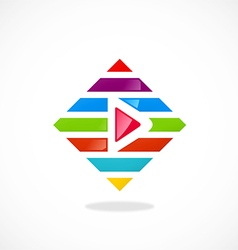 Play video colorful line logo vector