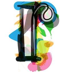Artistic font - letter r vector