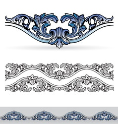 Filigree design elements vector