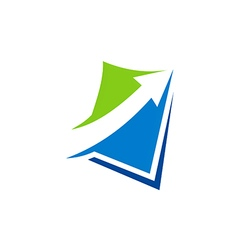 Arrow business finance logo vector